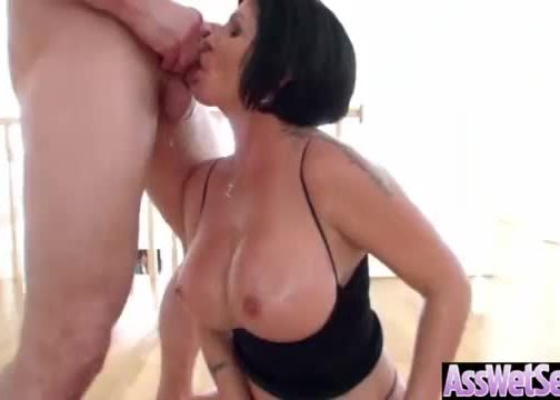 (shay fox) girl with big round butt get oiled and anal sex movie-30